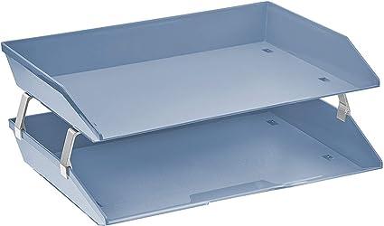 Acrimet Bandeja Portadocumentos 2 Niveles para Cartas (Color Azul Solido): Amazon.es: Oficina y papelería