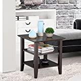 Wood End Table Coffee Side Stand Modern Living Room Furniture Espresso