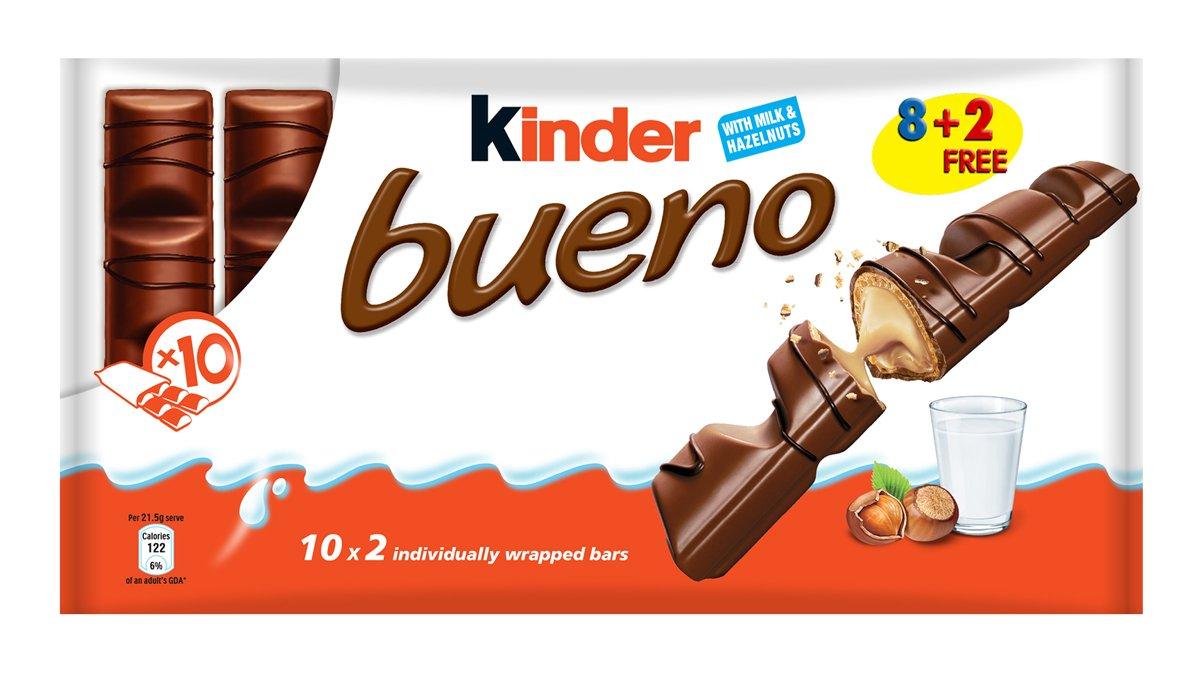 Kinder Bueno bar, Hazelnut, 1.51 Ounce (Pack of 10)