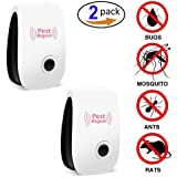 Pest Repeller, Ultrasonic Pest Control Repellent Reject Plug In for Insects, Spiders ,Mice , Roaches ,Bugs , Fleas , Ants and Mosquitoes - Set of 2 by Huretek