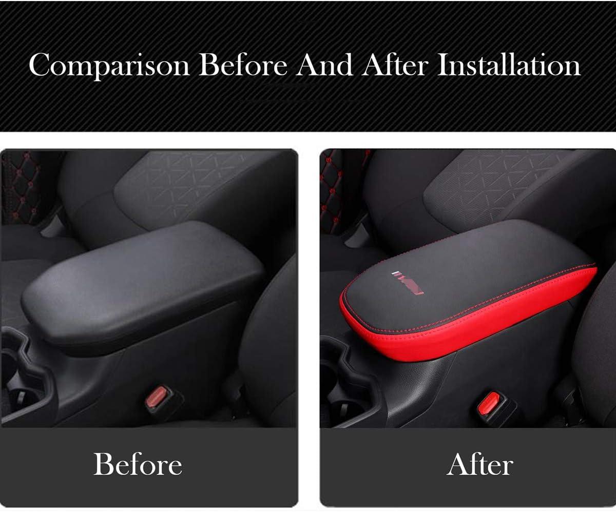 Black Center Console Armrest Pad Cover,Armrest Case Protector Fit for RAV4 2019 2020