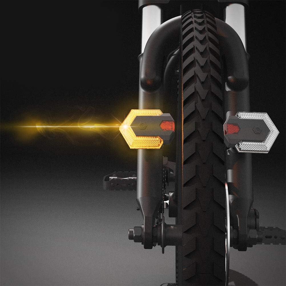 2pcs 5 Couleurs guidon de vélo Grips 2 Modes Turn Signal Indicator Warning Light