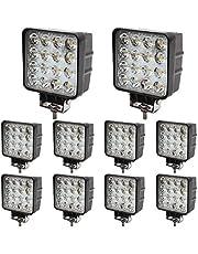 BRIGHTUM 10 x 48W LED offroad werklamp 4560 lumen wit 12V 24V schijnwerper reflector werklicht schijnwerper SUV UTV ATV werklamp - tractor - graafmachine ..