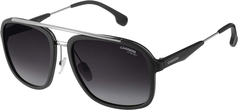 Carrera 133/S 9O TI7 Gafas de sol, Negro (RUTBK MTTBLK/DARK GREY SF), 57 Unisex-Adulto