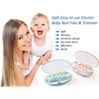 Electric Nail Filer and Trimmer for Newborn Baby's, Toddlers, Kids and Adults Nail File, Safe Electric Baby Nail Clipper