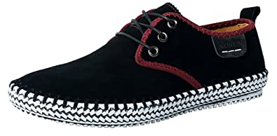 42a8531bd7 MOHEM Men s Poseidon Suede Leather Casual Walking Shoes Fashion Sneakers (16801Black40)