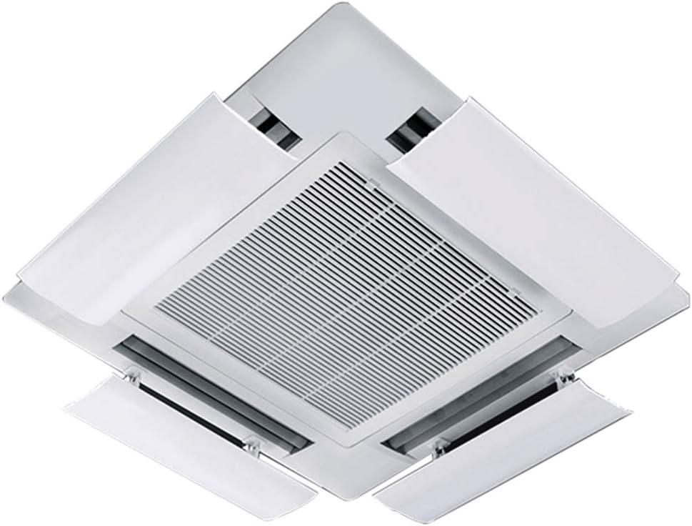Deflector del Aire Acondicionado para Aire Acondicionado Central en el Techo,ángulo Ajustable,permitiendo Que el Aire frío circule rápidamente en Interiores,PVC liviano Fácil de Instalar(una rebanad: Amazon.es: Hogar