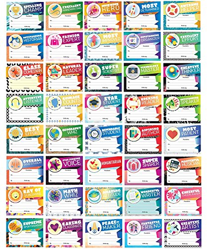Student Recognition - 40-Pack 40 Designs Student Award Certificates, End of School Year Classroom Awards for Student Achievement, Classroom Supply for Teacher, 8.5 x 11 -