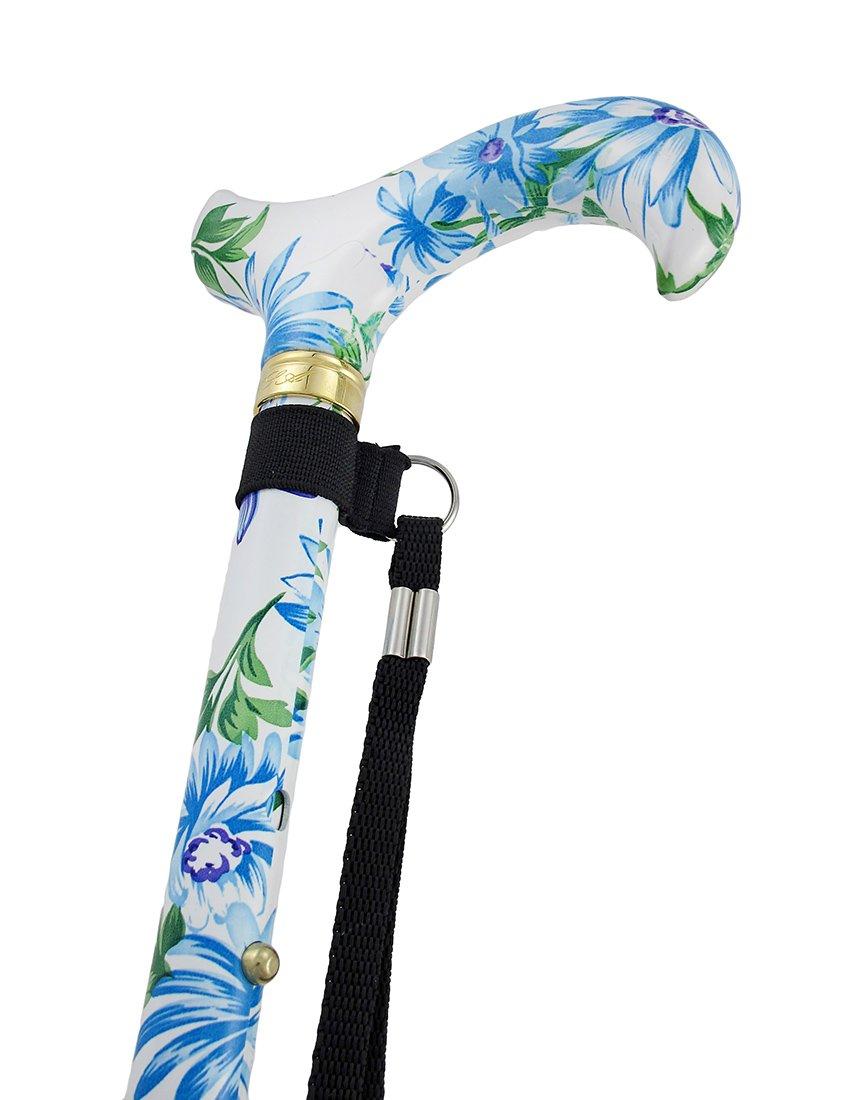 Heavenly Gardens Designer Folding Adjustable Cane