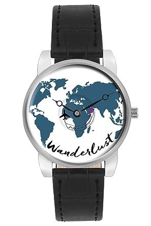 Buy travel watch bigowl airplane wanderlust world map design travel watch bigowl airplane wanderlust world map design leather strap casual wrist watch for women gumiabroncs Images