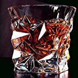 Malik Digital Prime Diamond Design Crystal Cut Whiskey Glass Set (300ml) - Pack of 6