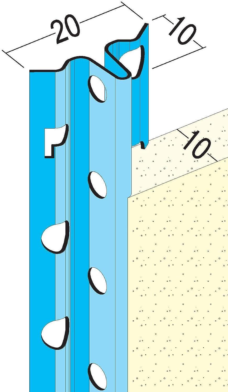 silbergrau 2,50 m PROTEKTOR 1106 Putzlehre Putzst/ärke 6 mm // 10 mm Bund = 50 St/äbe Stahl verzinkt