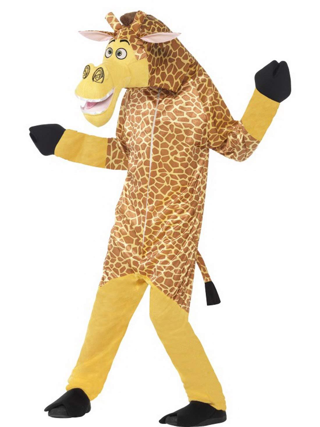 Halloweenia Costume di Carnevale, da Bambina, in Peluche, Motivo  Madagascar, Melman, Madagascar Giraffe, in Pelliccia, per Carnevale e Notte, 104-134, colore  Marronee