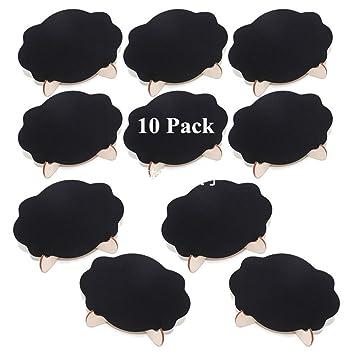 Amazon.com: Lote de 10 mini pizarras con soporte de vela ...