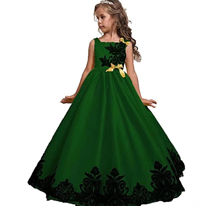 Amazon.com: Kids Showtime Girls Pageant Long Dresses Kids Prom Tulle ...