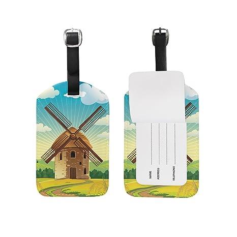 plastic 2pcs SMALL WINDMILL 12.5cm