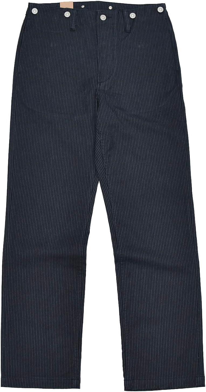 1920s Men's Pants, Trousers, Plus Fours, Knickers BOB Dong Retro Striped Casual Pants Suspender Buttons $82.99 AT vintagedancer.com