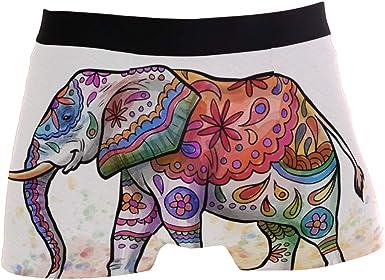 Mens Underwear Indian Elephant Cute Boys Boxer Brief