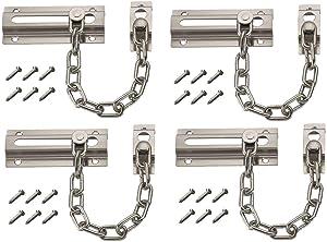 4PCS Handy Home Safety Burglarproof Door Chain Guard Security Lock Cabinet Latches Steel Chain Type