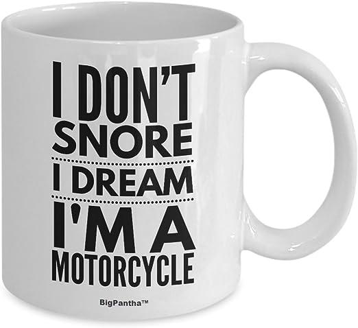com me snore i dream i m a motorcycle unique white