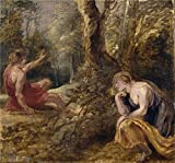 Oil Painting 'Rubens Peter Paul Cephalus And Procris 1636', 20 x 21 inch / 51 x 54 cm , on High Definition HD canvas prints is for Gifts And Bath Room, Gym And Kitchen Decoration, diy