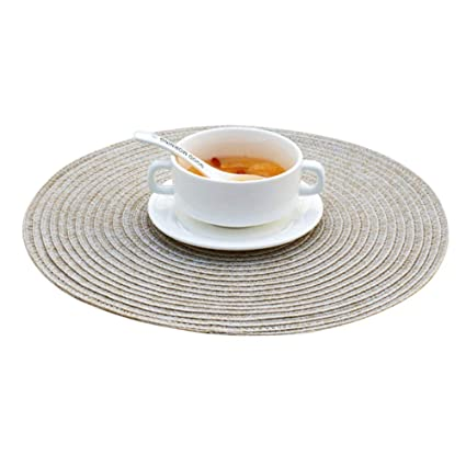 Round Table Placemats.Amazon Com Maitianguyou Round Table Placemats Non Slip Insulation