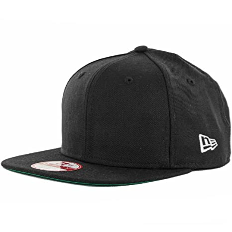 cac946d619154 Amazon.com   New Era 9Fifty Plain Blank Snapback Hat Original Uniform Cap  Black Navy Red   Sports   Outdoors