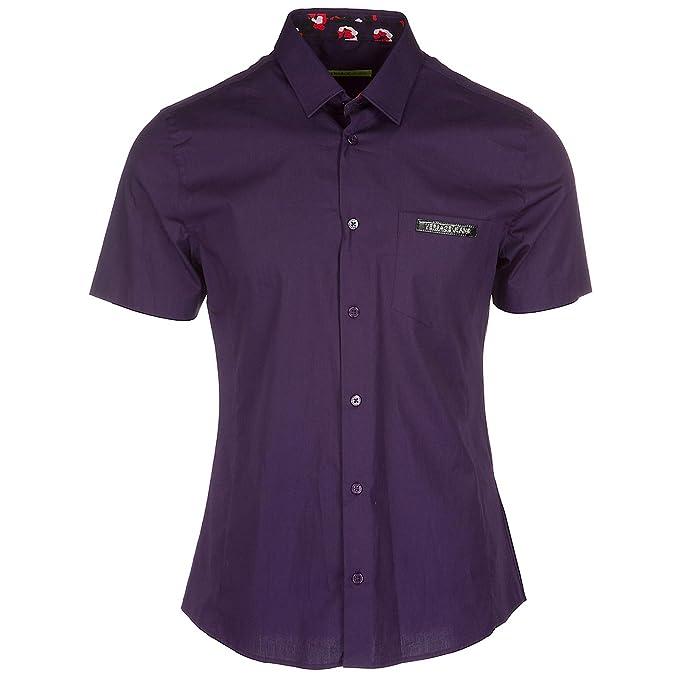 Versace Jeans camisa de mangas cortas hombre nuevo violeta EU 48 (UK 38) B1GRA6EA: Amazon.es: Ropa y accesorios