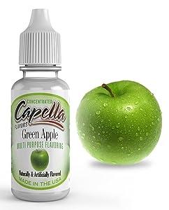 Capella Flavor Drops Green Apple Concentrate 13 Milliliter Bottle