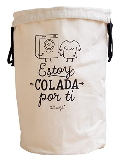 Mr. Wonderful Bolsa para la colada con mensaje