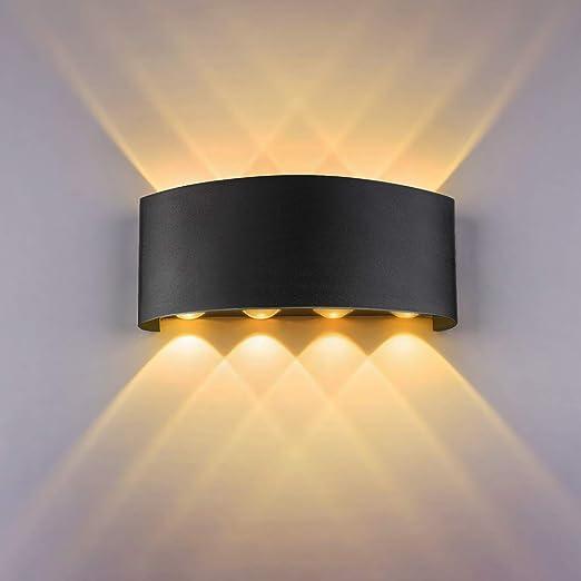 Aplique Pared Interior LED de pared Arriba abajo Lámpara de pared interior Moderno Accesorios de iluminación para Salon Dormitorio Sala Pasillo Escalera [Clase de eficiencia energética A+] (Negro): Amazon.es: Iluminación
