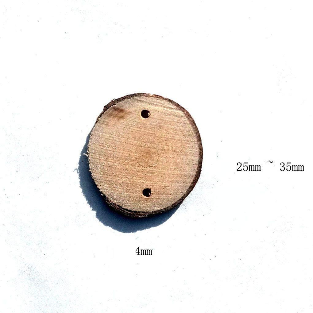 UHAoo 40pcs runde Holzscheiben und 40pcs Eisen Loops Birthday Reminder Plaque Brett DIY h/ängende Kalender Zubeh/ör