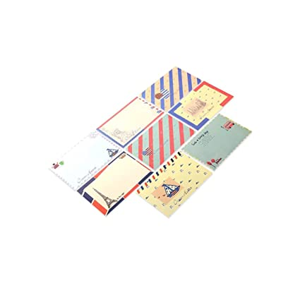 QTYB - Juego de 48 Hojas de Papel para Escribir Cartas y ...