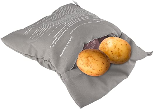 Microwave Baked Potato Bag Cooking Potatoes Washable Pouch Reusable Cooker