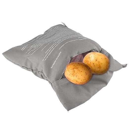 Bolsa de patatas para microondas y microondas, lavable y ...