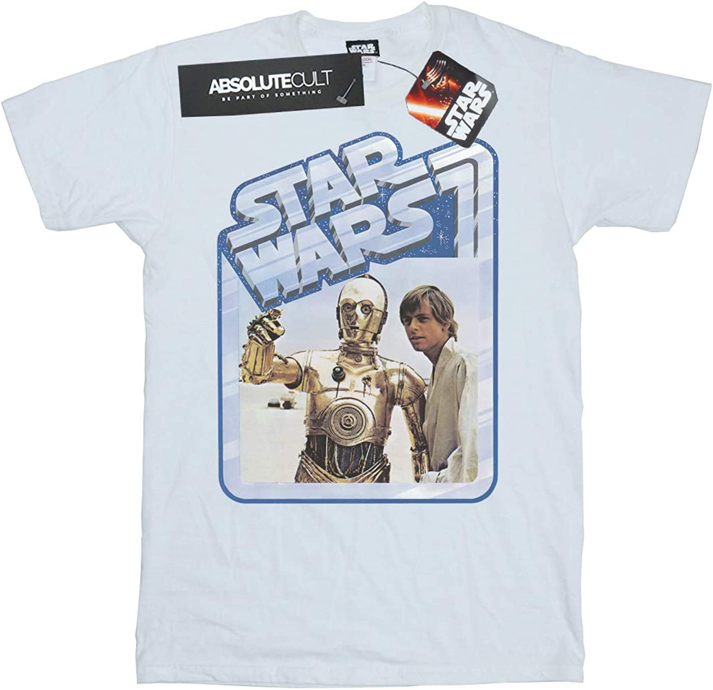 STAR WARS Girls Luke Skywalker and C-3PO T-Shirt 9-11 Years White