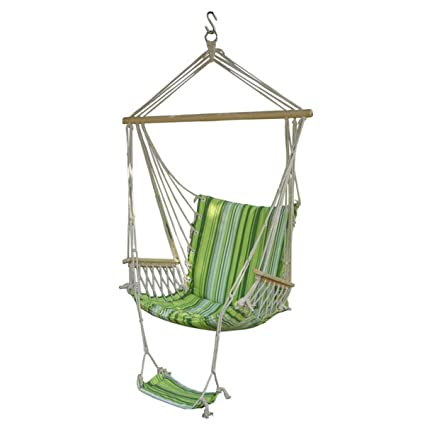 Bloomerang Ipree Outdoor Canvas Swing Hammock Leisure Hanging Chair Garden Patio