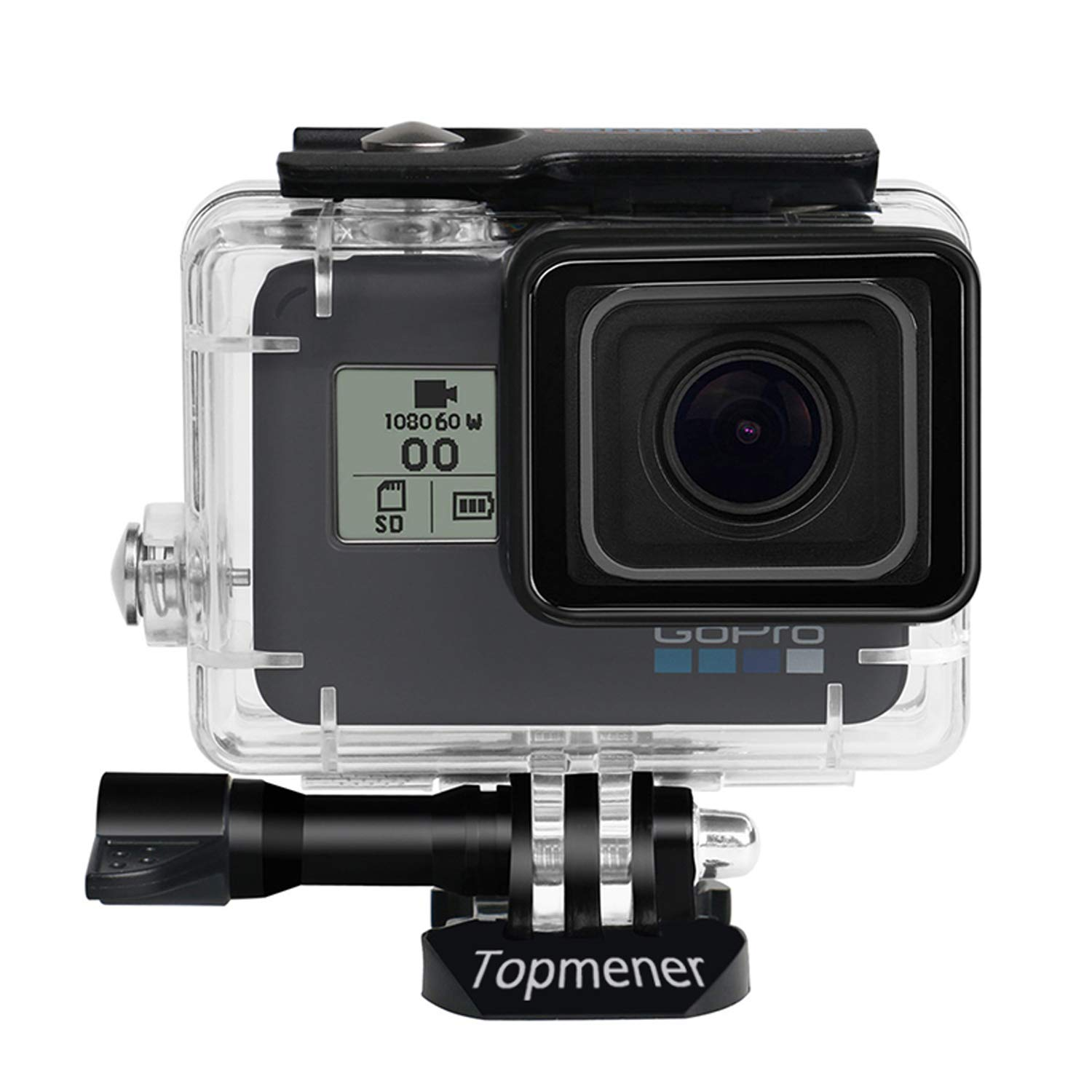 Thumbscrew and Lens Cap-45 M Topmener Waterproof Housing Case for GoPro Hero 7 6 5 2018 Black Action Camera Accessories HD Dive Case Underwater Protective Shell Anti-Scratch with Anti-Fog Insert
