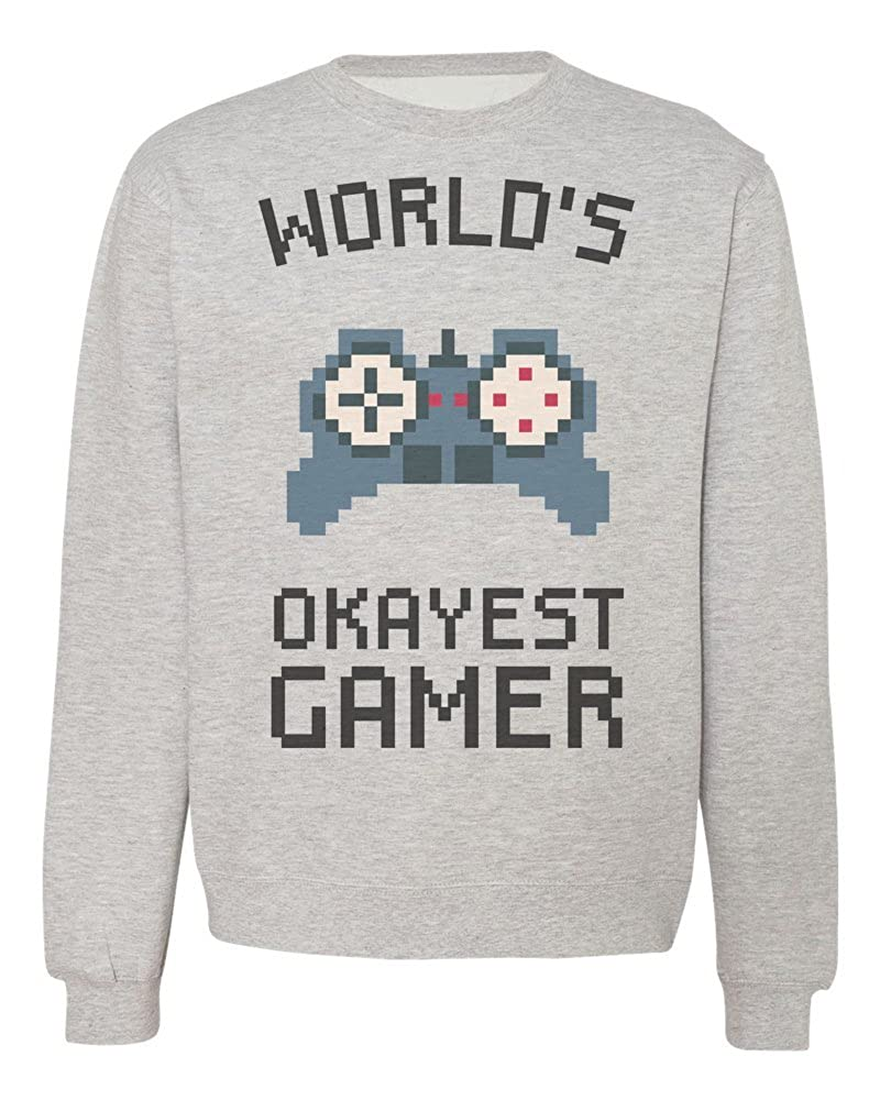 IDcommerce Worlds Okayest Gamer Funny Gamepad Design Mens Womens Unisex Sweatshirt