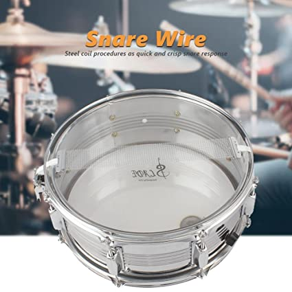 Snare Drum Wire | Amazon Com Dilwe Snare Drum Wire Steel Snare Wire For 14 Snare