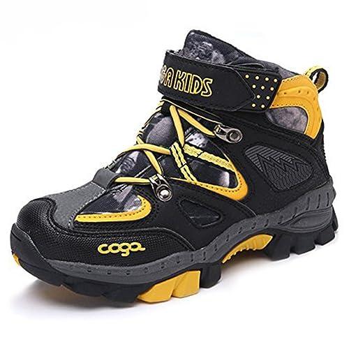 sports shoes f0277 03285 ESDY rutschfeste Kinder Schnee Stiefel Wanderschuhe Warme Winterschuhe  Outdoor Trendiger Jungen-Trekking-Schuh (31-40 EU)