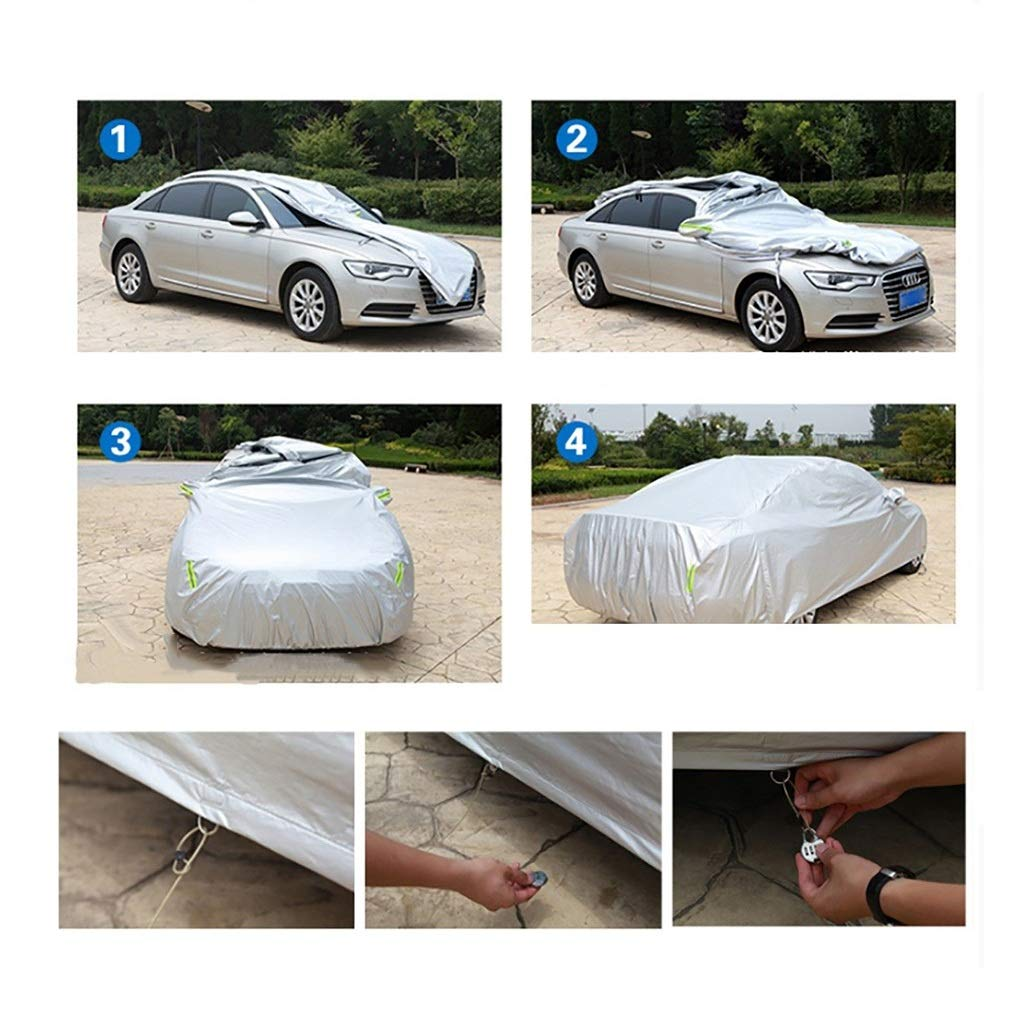 Protector Solar Impermeable a Prueba de Polvo Universal Fit Full Car Covers Fundas para Coche Compatible con Car Cover Hummer Color : A, Size : Hummer H2 Forro de algod/ón Suave y Liso