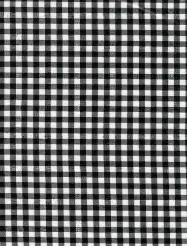 Oilcloth - Gingham Black (Oilcloth Covering Floor)