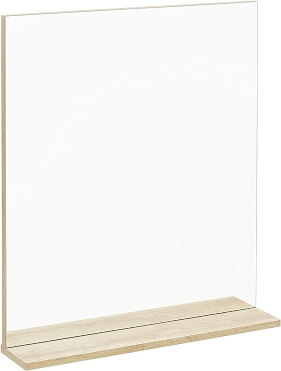 Badezimmerspiegel Ablage.Fackelmann Spiegelelement Finn Badspiegel Mit Ablage Masse B X H X T Ca 60 X 69 5 X 13 5 Cm Hochwertiger Rechteckiger Spiegel Furs Badezimmer Und Wc Ablage Braun Hell Breite 60 Cm Amazon De Kuche Haushalt