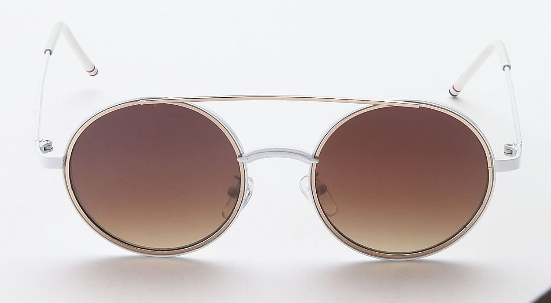 Amazon.com: Mia Nova - Gafas de sol redondas retro, Gris ...