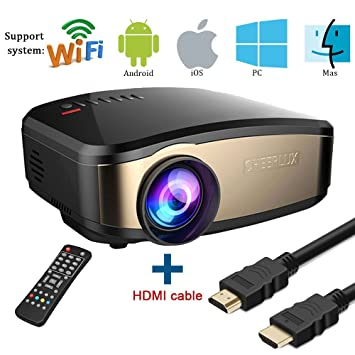 Wifi Projector, huiheng SD50 Plus Wireless Projector Mini LED ...