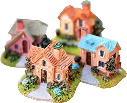 LIOOBO Casa de Hadas en Miniatura Casa de Pueblo Mini Decoración de jardín Micro Adornos de jardín: Amazon.es: Hogar