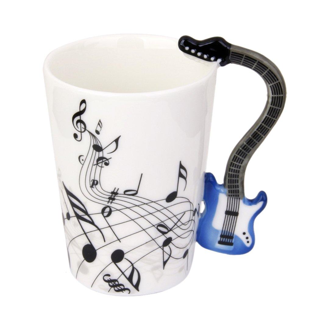 Tasse de Musique avec Poignée en Forme de Basse Electrique en Porcelaine Mug Note de Musique #1 Générique USB15018054