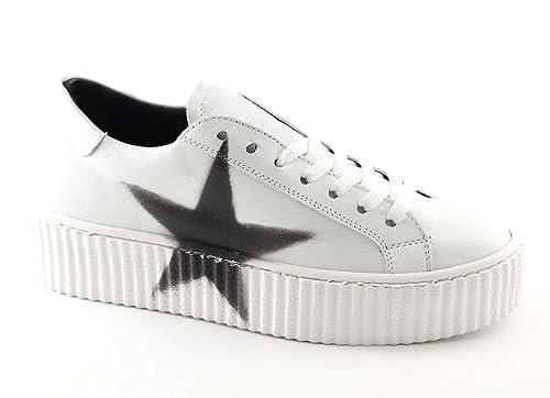 Divine Follie 11-301 Bianco Scarpe Donna Sportive Sneakers Lacci Pelle  Platform 39  Amazon.it  Scarpe e borse 6729737527c