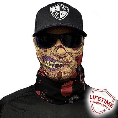 Salt Armour Face Mask Shield Protective Balaclava Bandana Microfiber Tube Neck Warmer (Flesh Zombie)